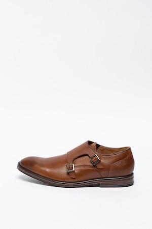 Clarks, Citistride bőrcipő, Barna, 8