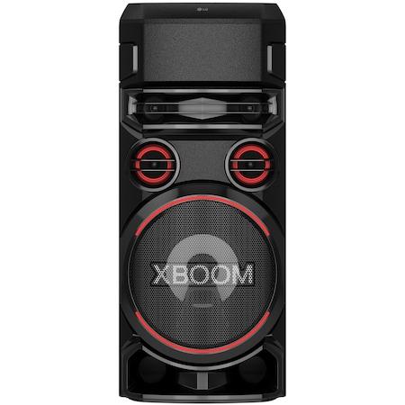 Аудио система LG XBOOM RN7, Bluetooth, Dual-USB, Optical, Karaoke Creator, Party Lighting, Double Bass-Boost, Черен
