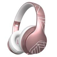 PowerLocus P6 Bluetooth fejhallgató, 40 óralejátszási idő, Bluetooth 5.0, Érintésérzékelő gomb, vezeték nélküli, fül köré illeszkedő, összehajtható, Matt Rose Gold