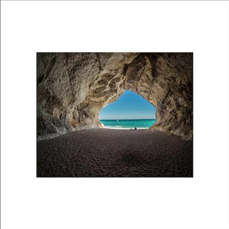 Tablou Canvas Tunel pe Plaja, 50x40, ultra HD, 4k
