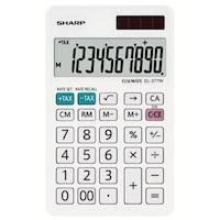 Calculator de birou SHARP 10 digits, dual power,EL-377W - alb