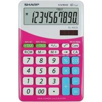 Calculator de birou SHARP 10 digits, dual power,EL-M332BBL - gri/roz
