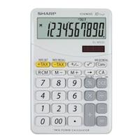 Calculator de birou SHARP 10 digits, dual power,EL-M332BBL - gri/alb