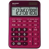 Calculator de birou SHARP 10 digits, dual power,EL-M335BRD - rosu