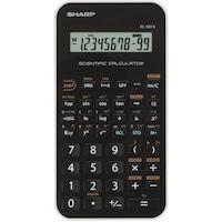Calculator stiintific SHARP 10 digits, 131 functiuni, ,EL-501XBWH - negru/alb