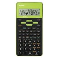 Calculator stiintific SHARP 10 digits, 273 functiuni, dual power,EL-531THBGR-negru/verde