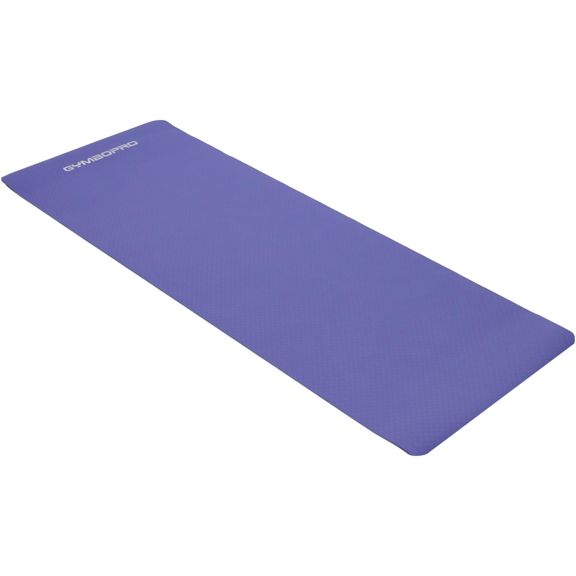 Fotografie Saltea fitness Gymbopro, dimensiune 183 x 61 cm, 0.6 cm grosime, material TPE, culoare mov