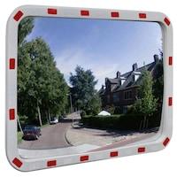vidaXL Konvex négyszögletes közlekedési tükör fényvisszaverőkkel 60 x 80 cm