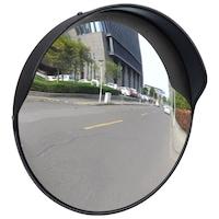 vidaXL Konvex kültéri közlekedési tükör fekete polikarbonát 30 cm