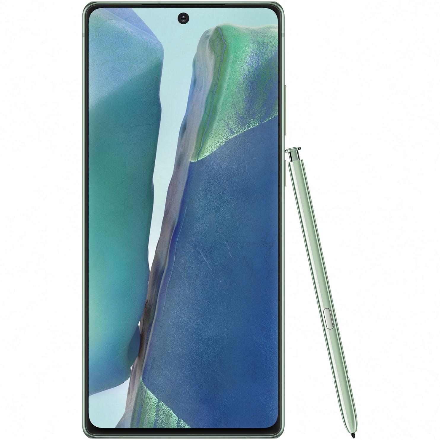 Fotografie Telefon mobil Samsung Galaxy Note 20, Dual SIM, 256GB, 8GB RAM, 5G, Mystic Green