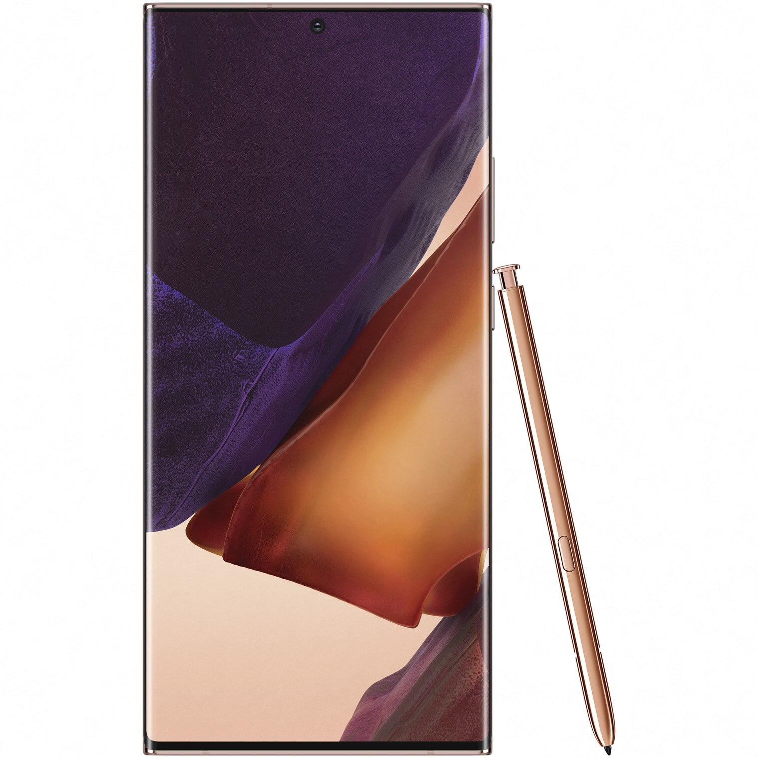 Fotografie Telefon mobil Samsung Galaxy Note 20 Ultra, Dual SIM, 256GB, 12GB RAM, 5G, Mystic Bronze
