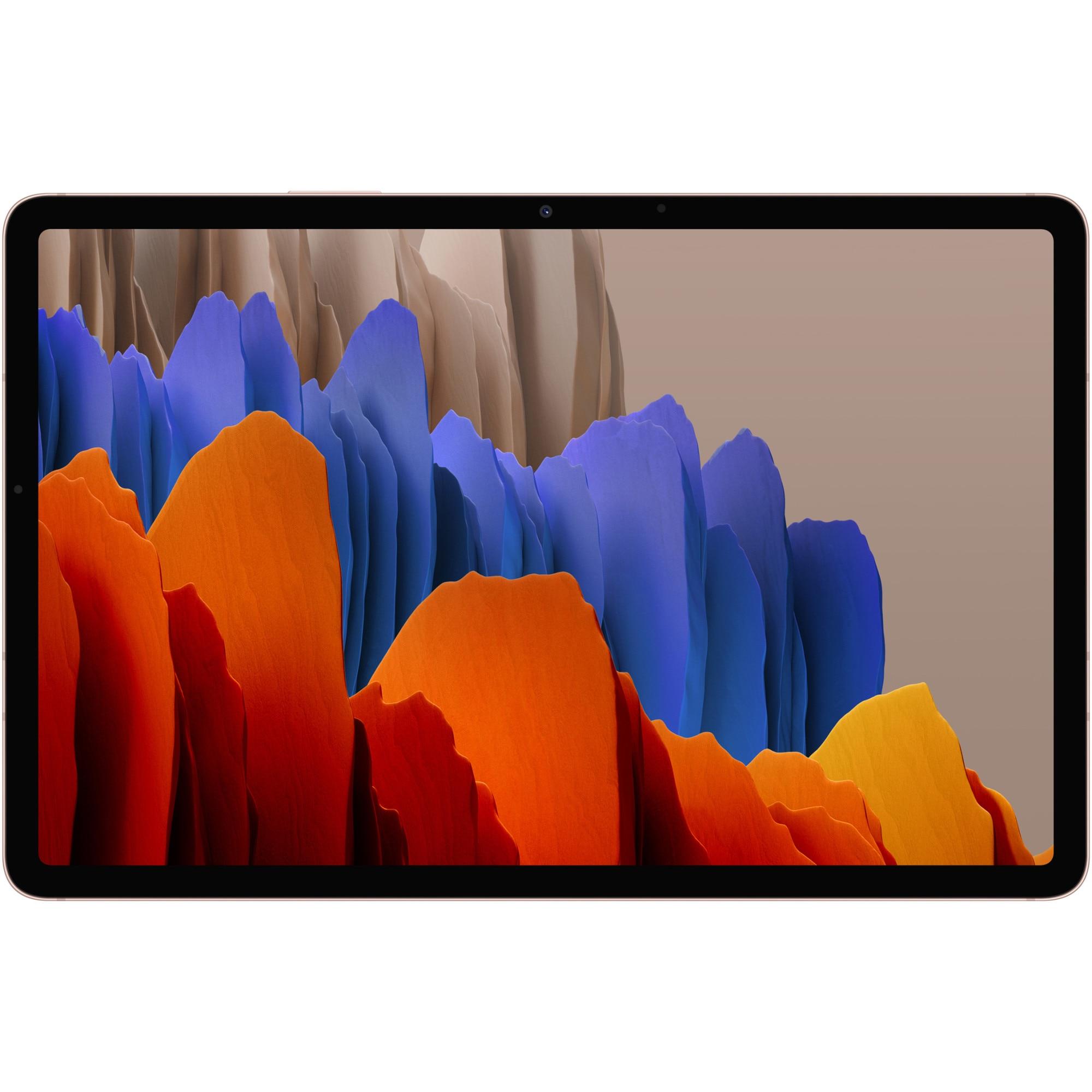 """Fotografie Tableta Samsung Galaxy Tab S7, Octa-Core, 11"""", 6GB RAM, 128GB, 4G, Mystic Bronze"""