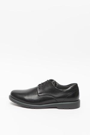 Geox, Pantofi derby de piele Raffaele, Negru, 41