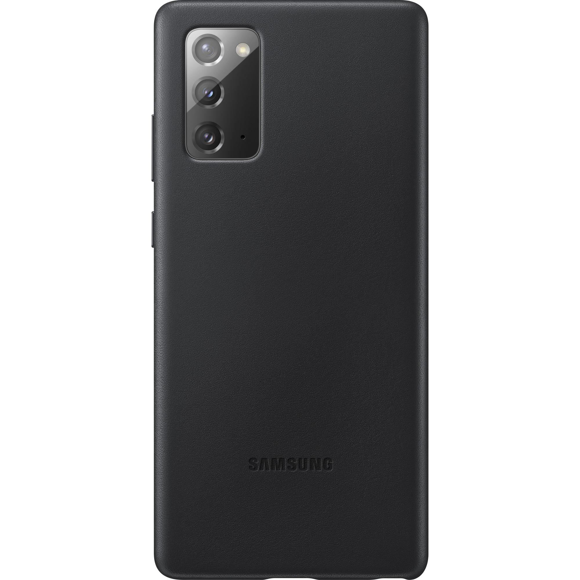 Fotografie Husa de protectie Samsung Leather pentru Galaxy Note 20, Black