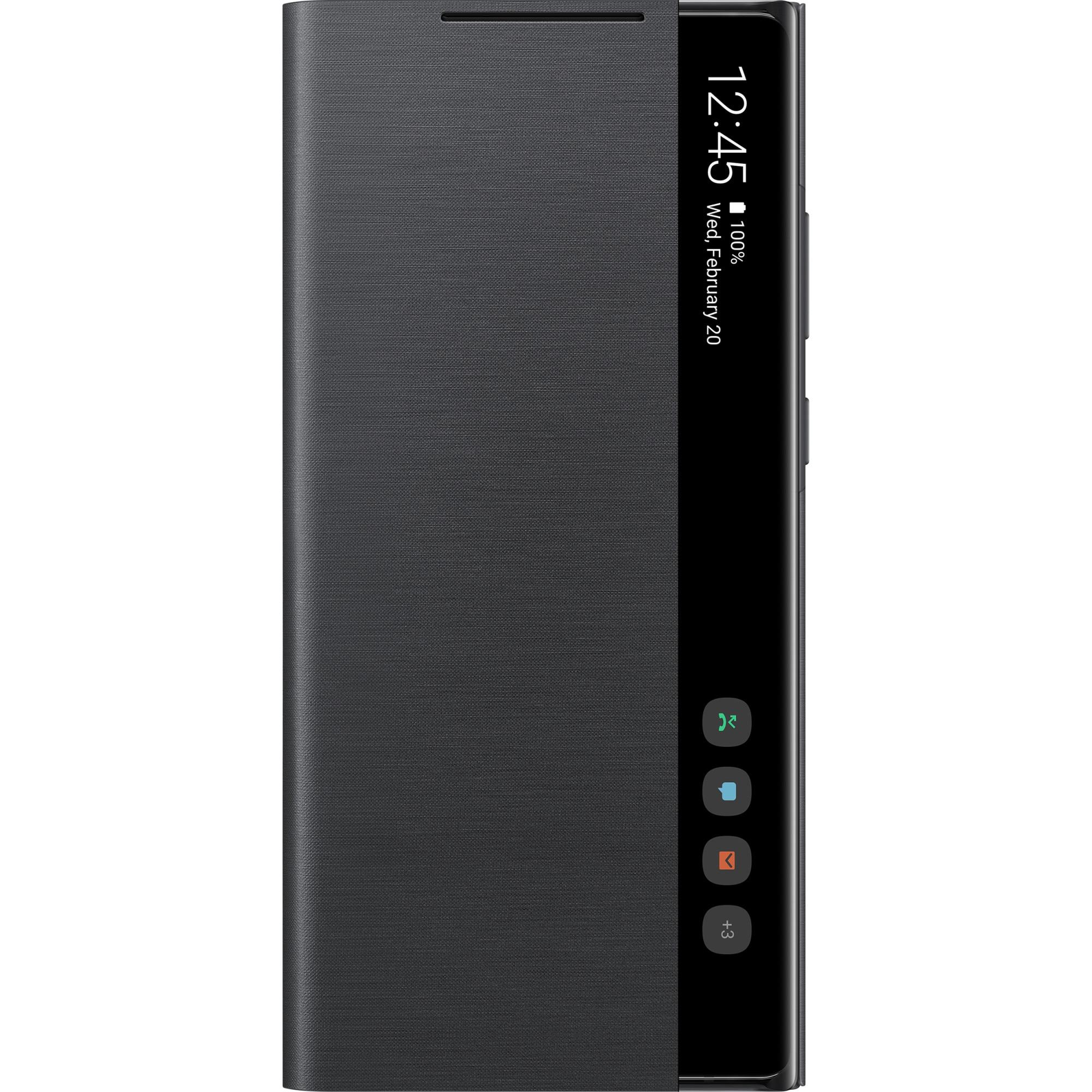 Fotografie Husa de protectie Samsung Clear view pentru Galaxy Note 20, Black