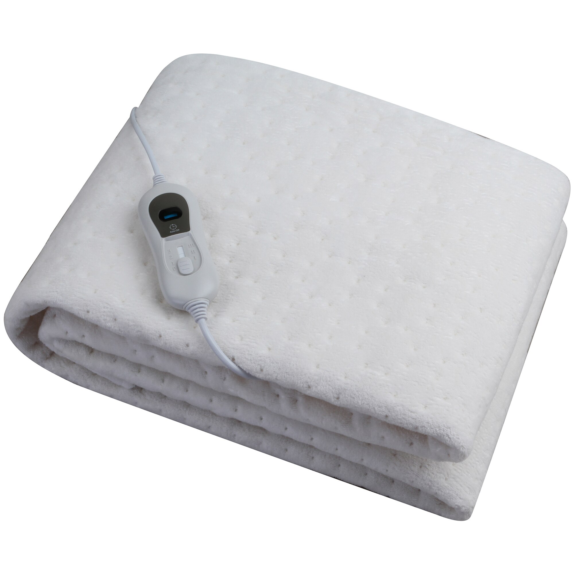 Fotografie Saltea cu incalzire electrica Kring, 200 x 90 cm, fleece, 3 trepte de incalzire, 60 W, Alb