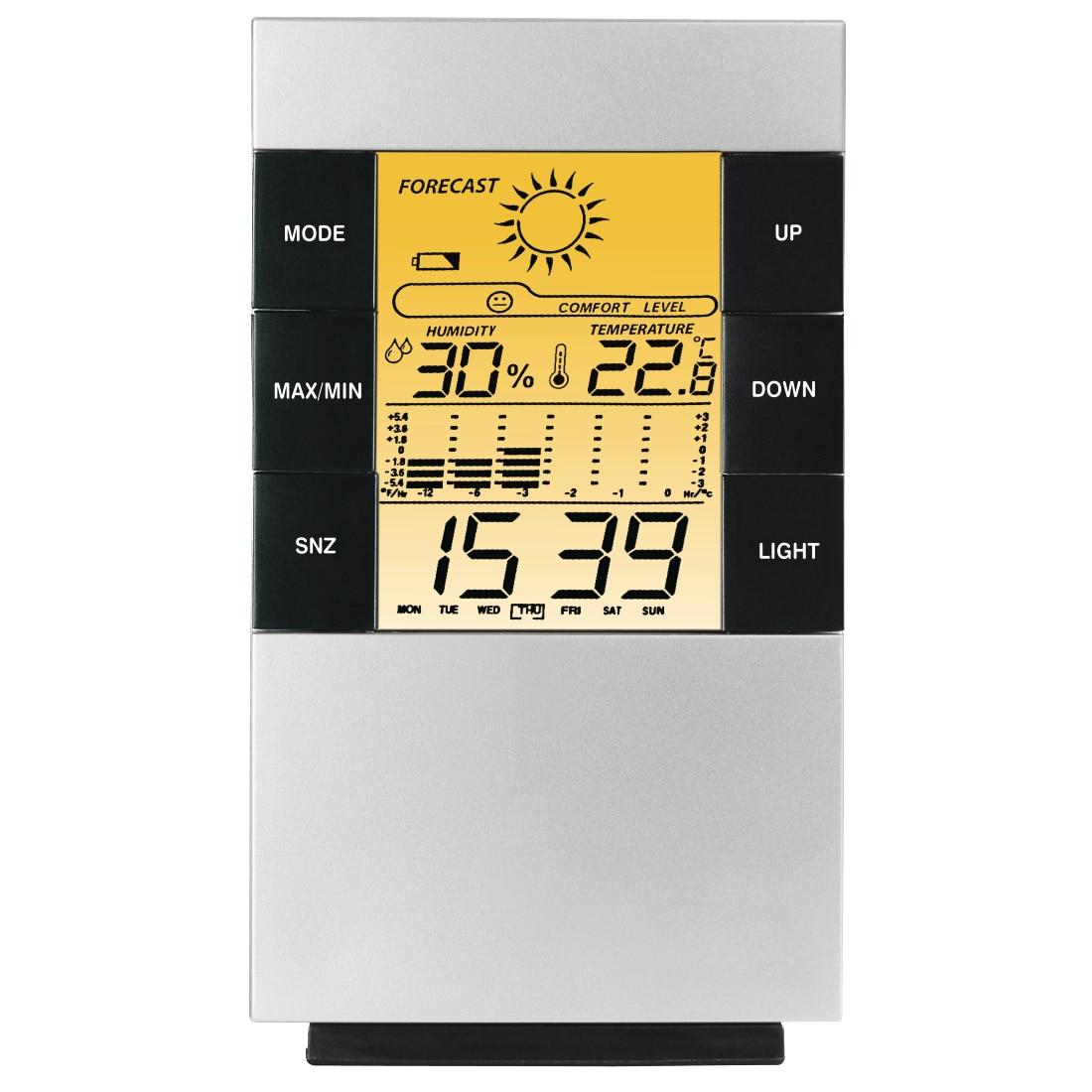 Fotografie Termometru si higrometru Hama TH-200, Barometru, Alarma, Functie calendar, Argintiu