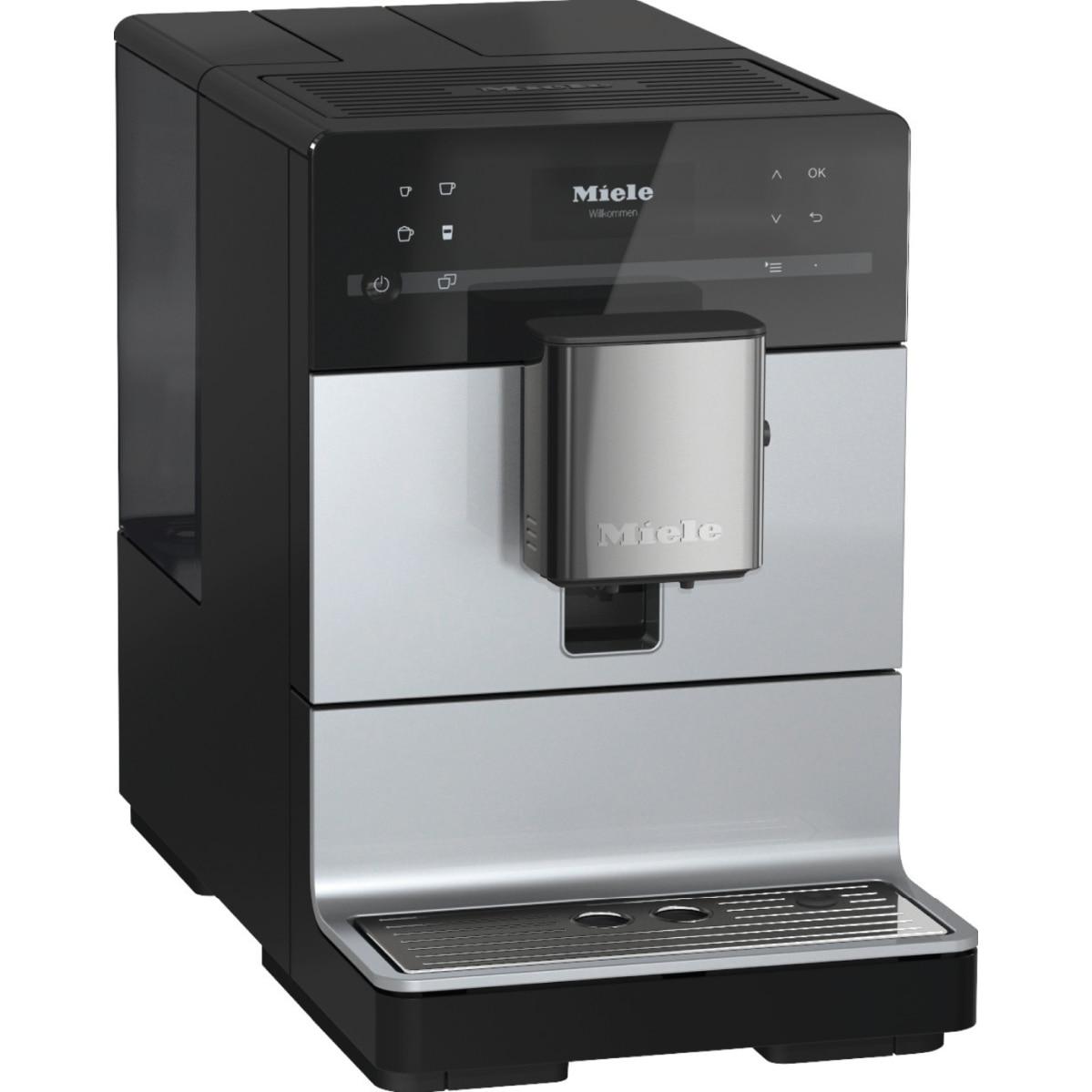 Fotografie Espressor automat Miele CM 5310 Silence Silver, 15 bar, 1.3 L, OneTouch for Two, AromaticSystem, Profiluri utilizator, Argintiu