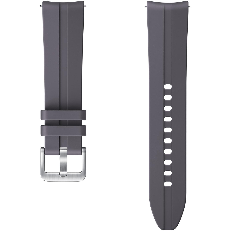 Fotografie Curea ceas smartwatch Samsung Galaxy Watch3, Ridge Sport, 20mm, S/M, Gray
