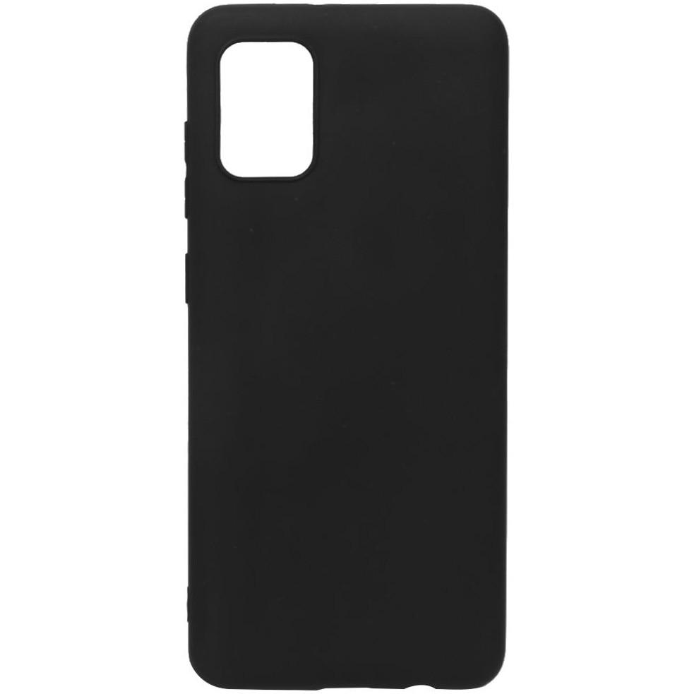 Fotografie Husa de protectie Lemontti Silicon Silky pentru Samsung Galaxy A31, Negru