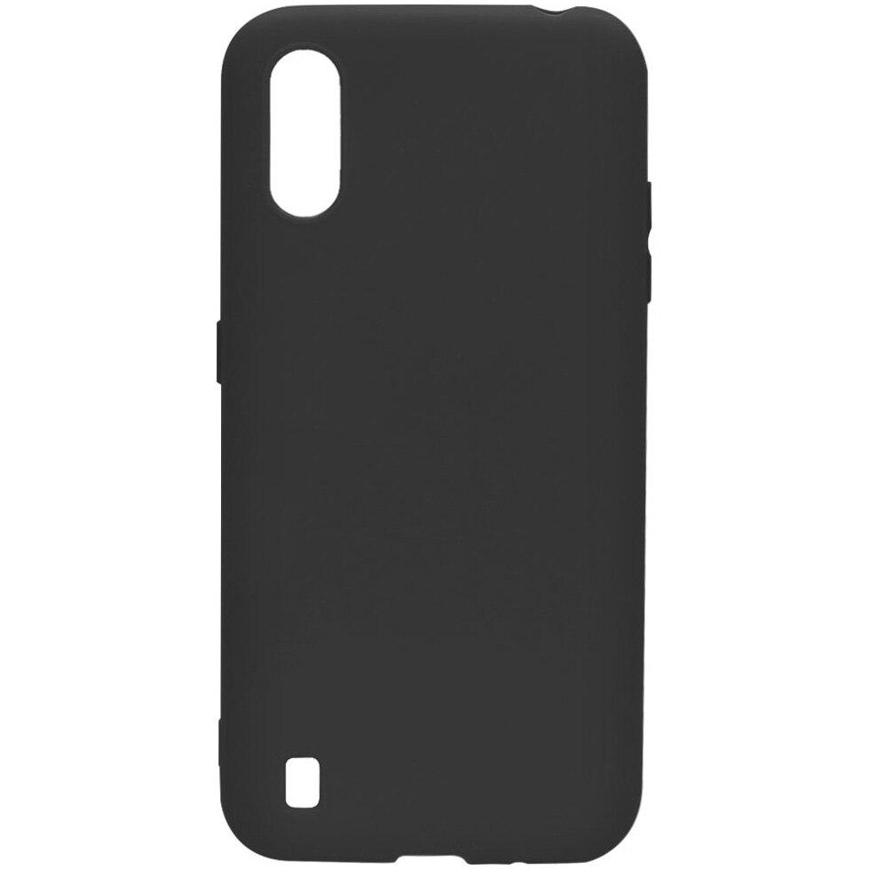 Fotografie Husa de protectie Lemontti Silicon Silky pentru Samsung Galaxy A01, Negru