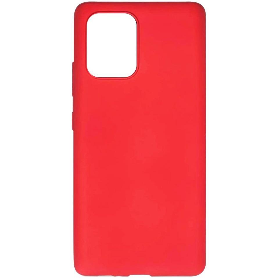 Fotografie Husa de protectie Lemontti Silicon Silky pentru Samsung Galaxy S10 Lite, Rosu