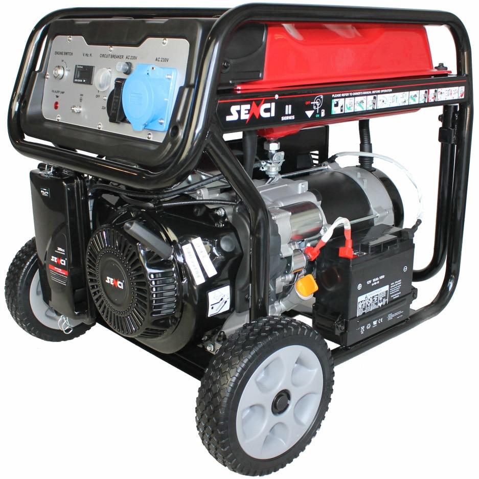 Fotografie Generator curent electric Senci SC-6000E TOP, 13 CP, 389 CC, AVR, demaraj electric, 21.7 A, 230 V, 25 l benzina, 13.5 h autonomie maxima