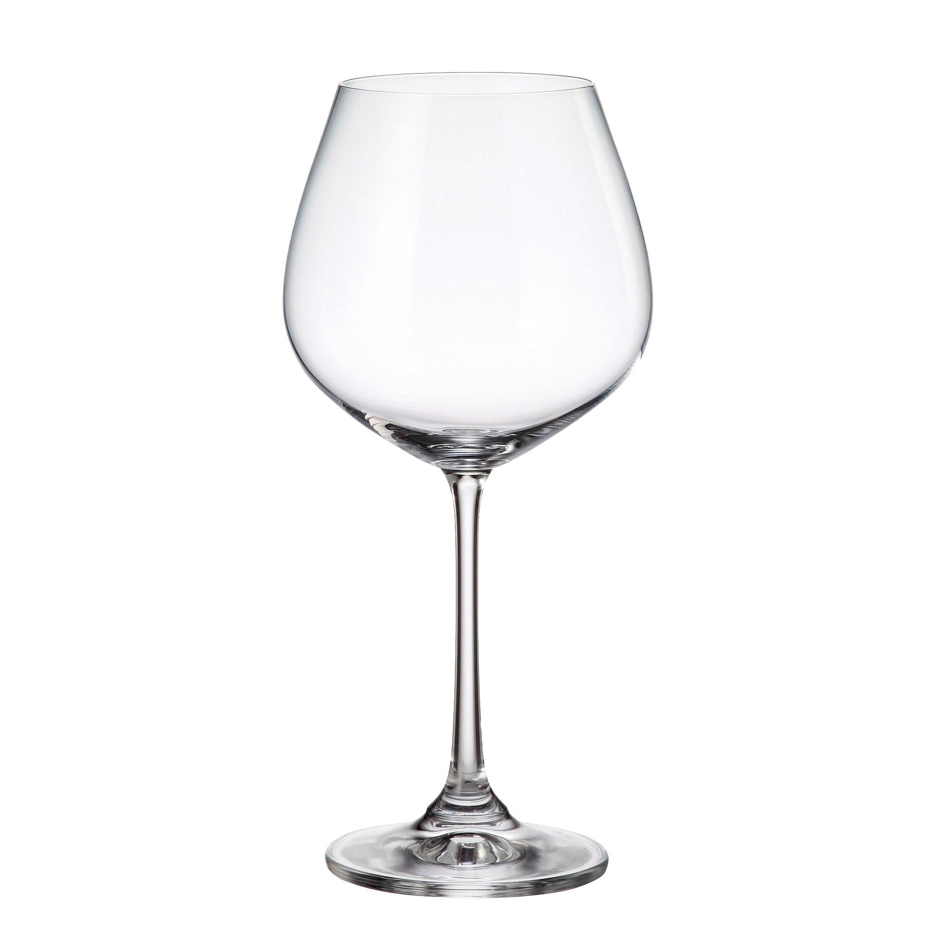 Fotografie Set 6 pahare vin/gin Bohemia Columba, cristalin, 640 ml