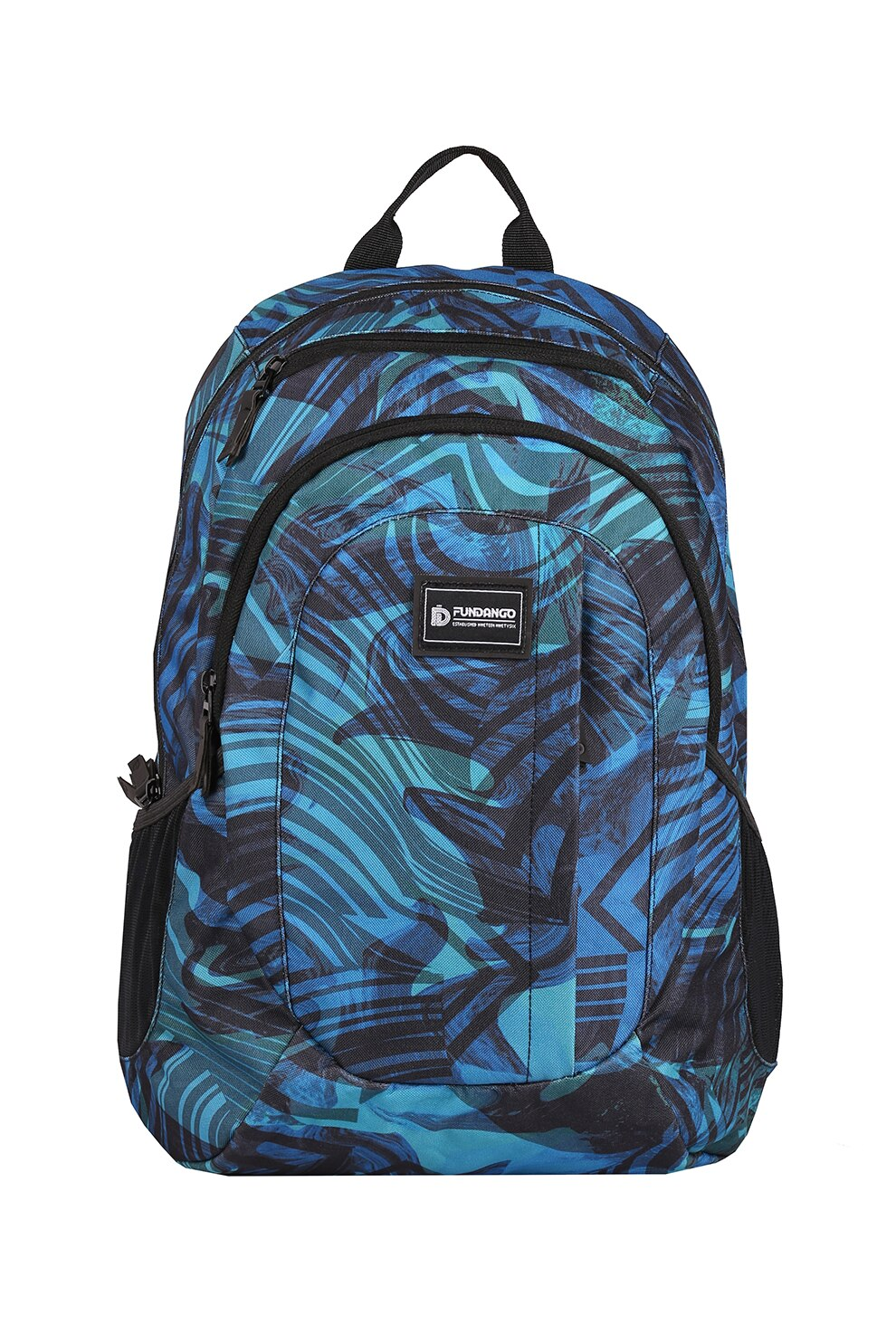 Fotografie Fundango, Rucsac unisex cu imprimeu abstract Urban, Multicolora