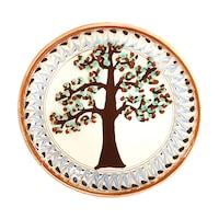 Farfurie din ceramica de Horezu, Pomul vietii, model 4277, Ø 190 mm