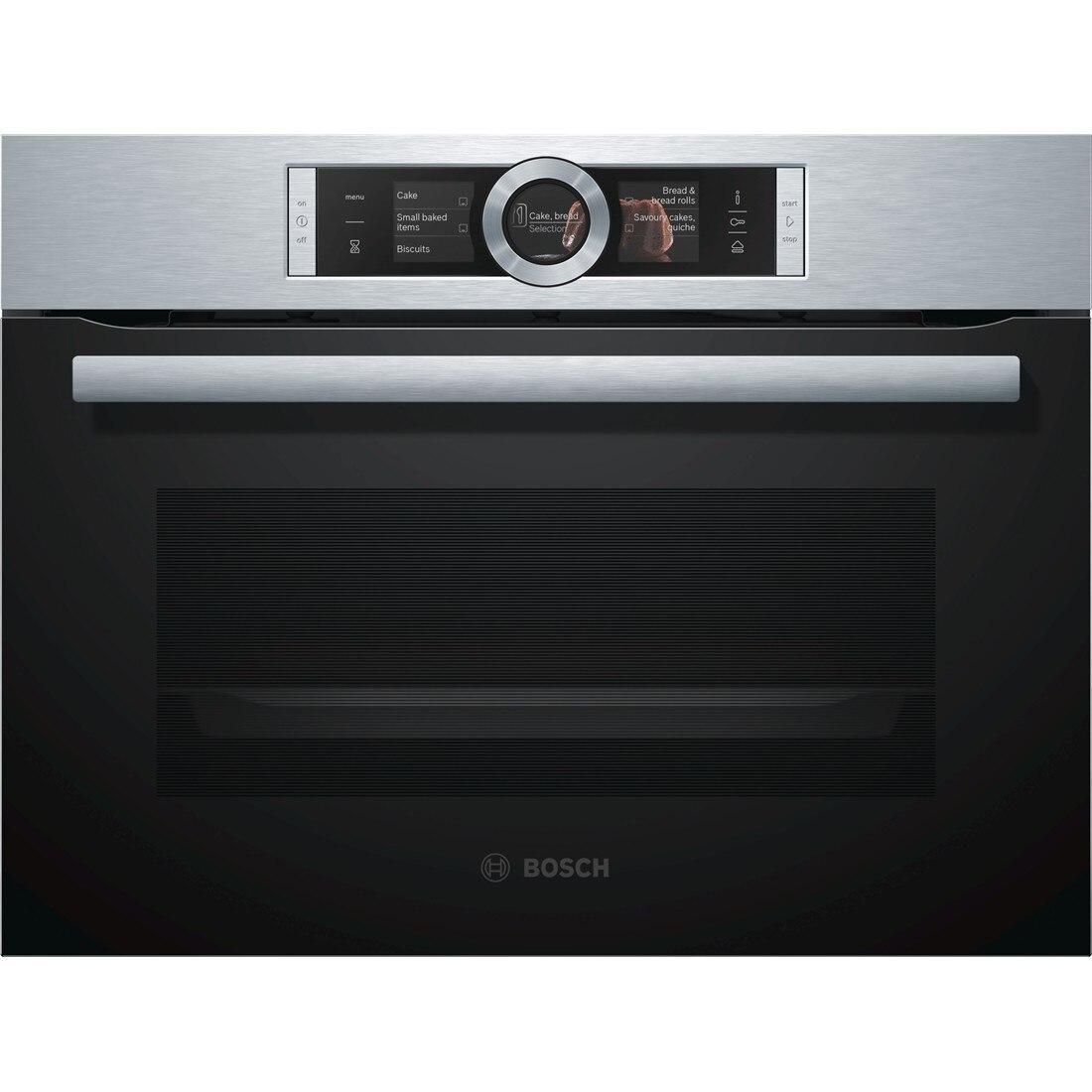 Fotografie Cuptor incorporabil Bosch CSG656BS1, Multifunctional cu aburi, 12 functii, 47 l, Inox