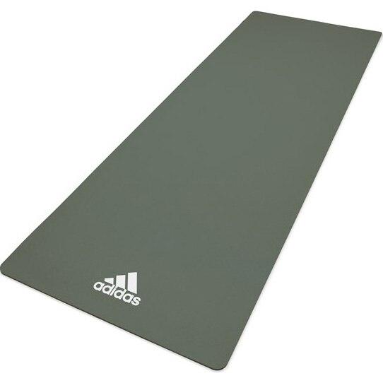 Fotografie Saltea fitness/yoga/pilates Adidas, 176x61x0.8 cm, verde inchis