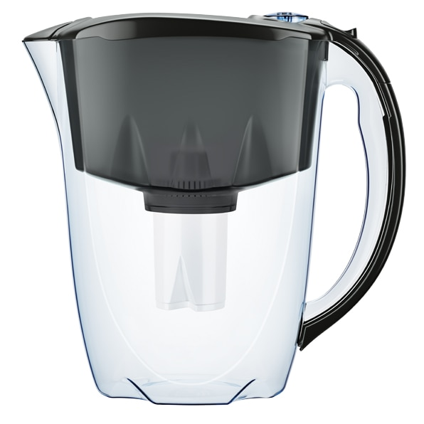 Fotografie Cana filtranta cu 3 cartuse B15 Aquaphor, model Ideal negru