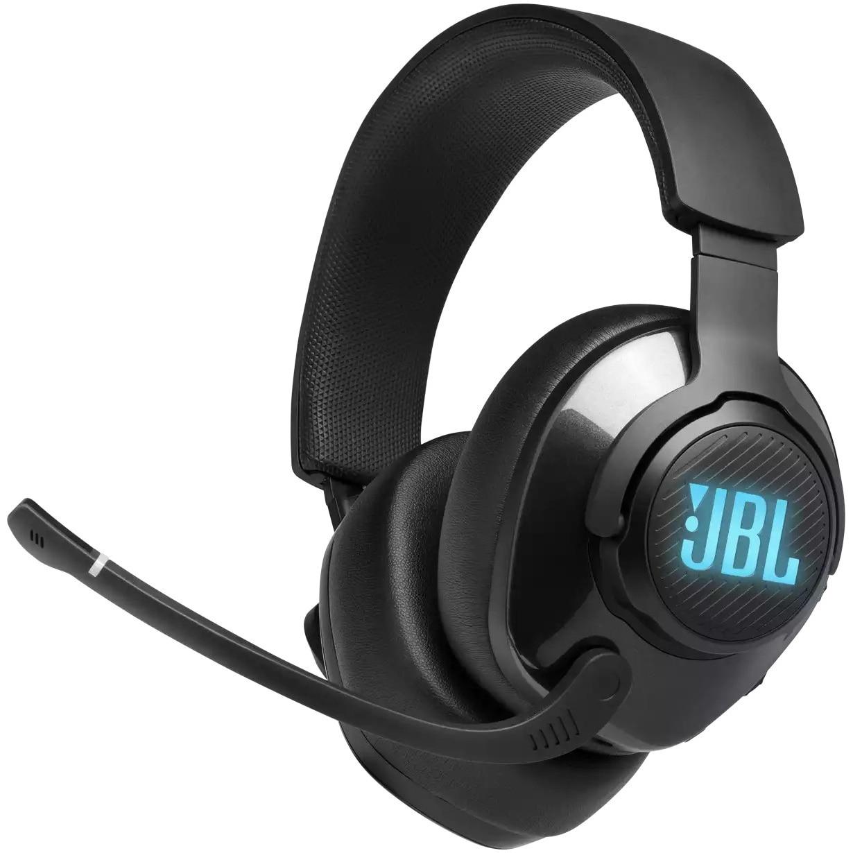 Fotografie Casti Gaming JBL Quantum 400, Multiplatforma, Quantum Surround, 3.5mm, USB, Microfon, Negru