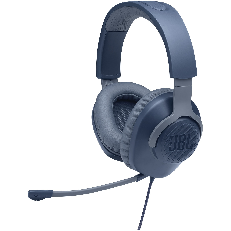 Fotografie Casti Gaming JBL Quantum 100, Multiplatforma, 3.5mm, Microfon, Albastru