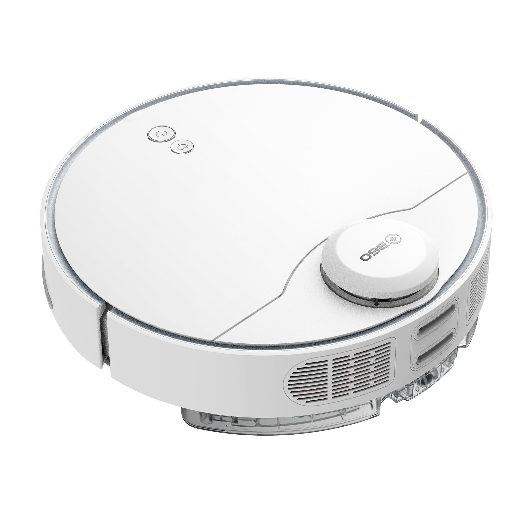 Fotografie Robot de aspirare 360 S9 , Mop, WiFi, Navigatie laser LSD, Bariere virtuale, Senzor anti-cadere , Google Assistant & Alexa, 35W, Baterie Li-ion, 5200mAh, Timp de incarcare: 240 min, Alb