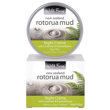 Crema de noapte cu lavanda si Floarea Patimilor, Wild Ferns, Rotorua Mud, Efect de intinerire a pielii, 95 g