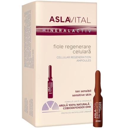 Fiole regenerare celulara Aslavital, 7 buc x 2 ml