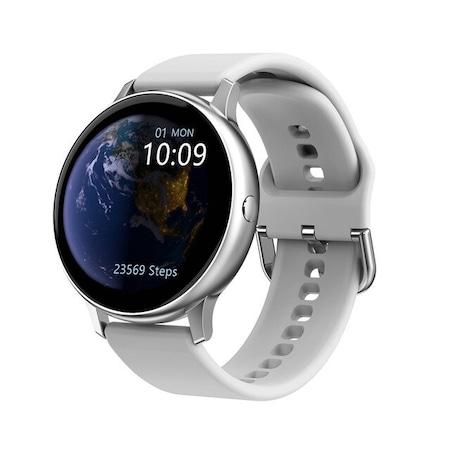 Смарт часовник Smart Wear GT88 PRO, IP67 Водоустойчивост, Пулс, Калории, Bluetooth, Ултратънък, Бял