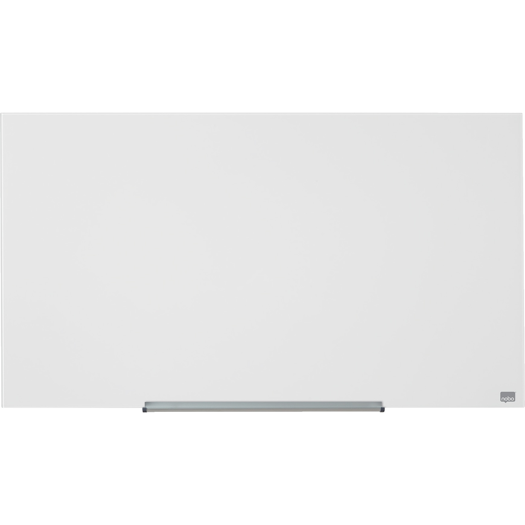 """Fotografie Tabla NOBO Diamond Widescreen 45"""", sticla, 100x56 cm, magnetica, include marker, tavita si magneti, alb"""