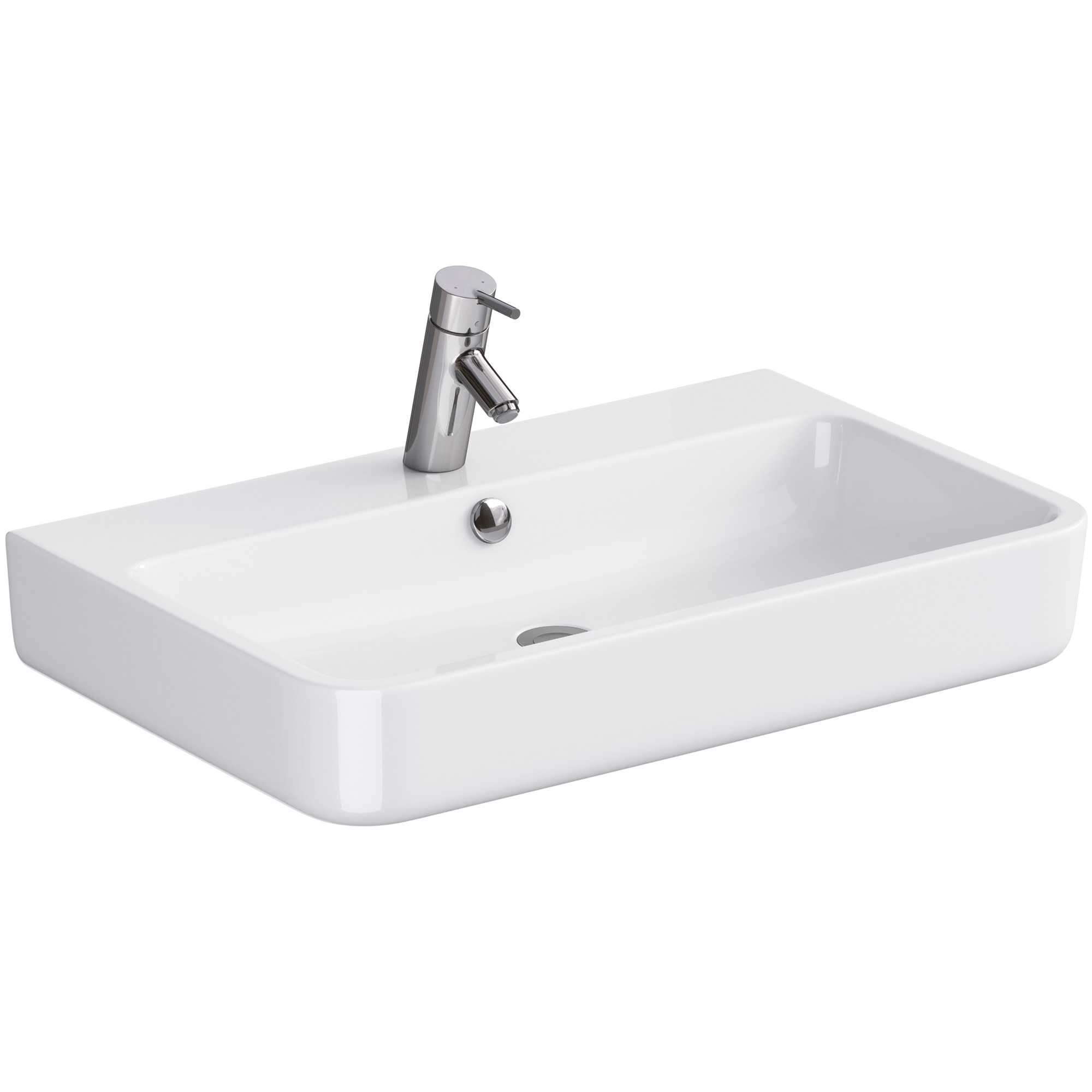 Fotografie Lavoar pentru mobilier simetric Cersanit Urban Harmony OK580-002-BOX, 70x45.5 cm
