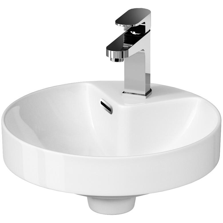 Fotografie Lavoar (chiuveta baie) rotund incastrat Cersanit Crea K114-002, 37.5x6.5 cm