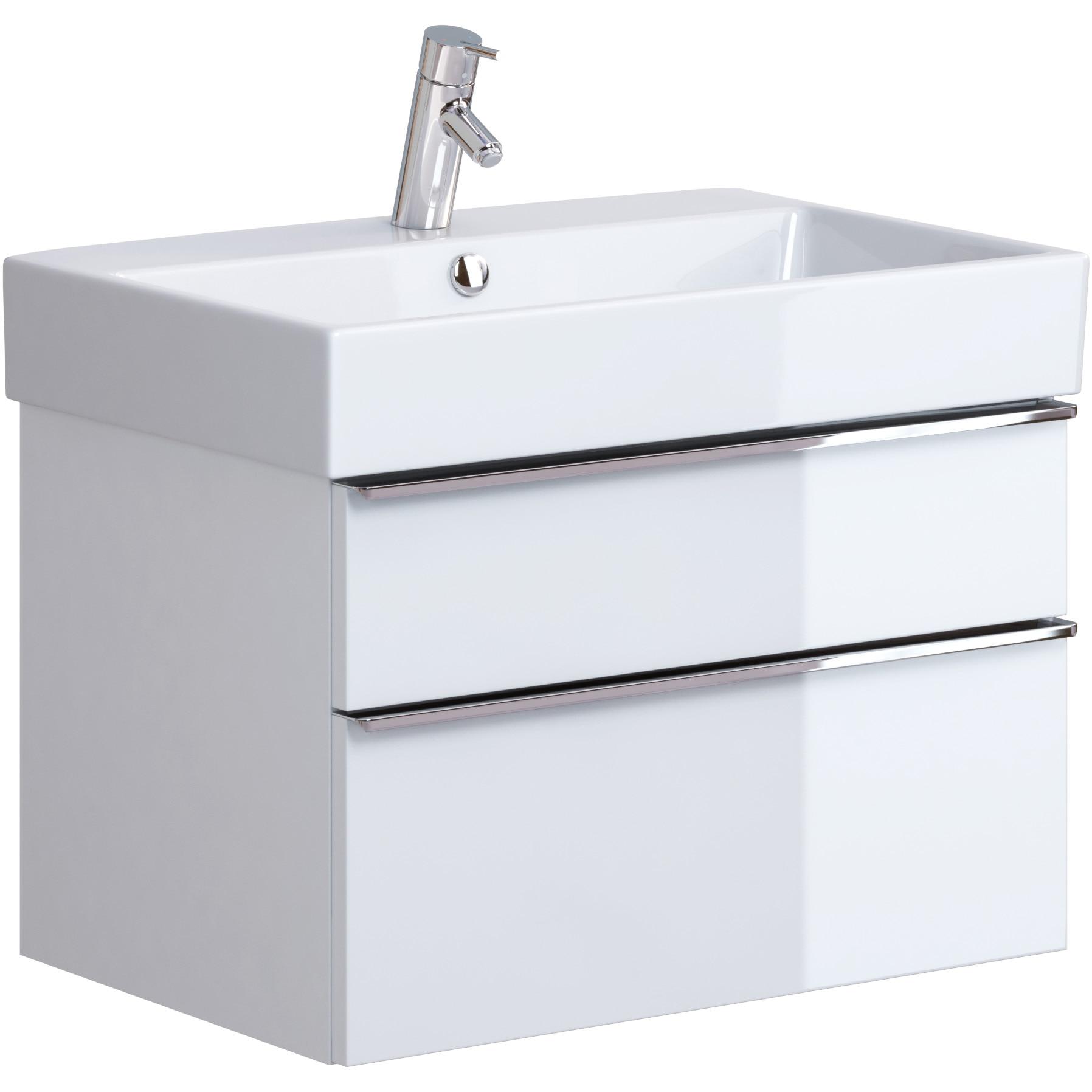 Fotografie Mobilier lavoar Cersanit Metropolitan OS581-004, 69.4x44.7x43 cm, alb, montat