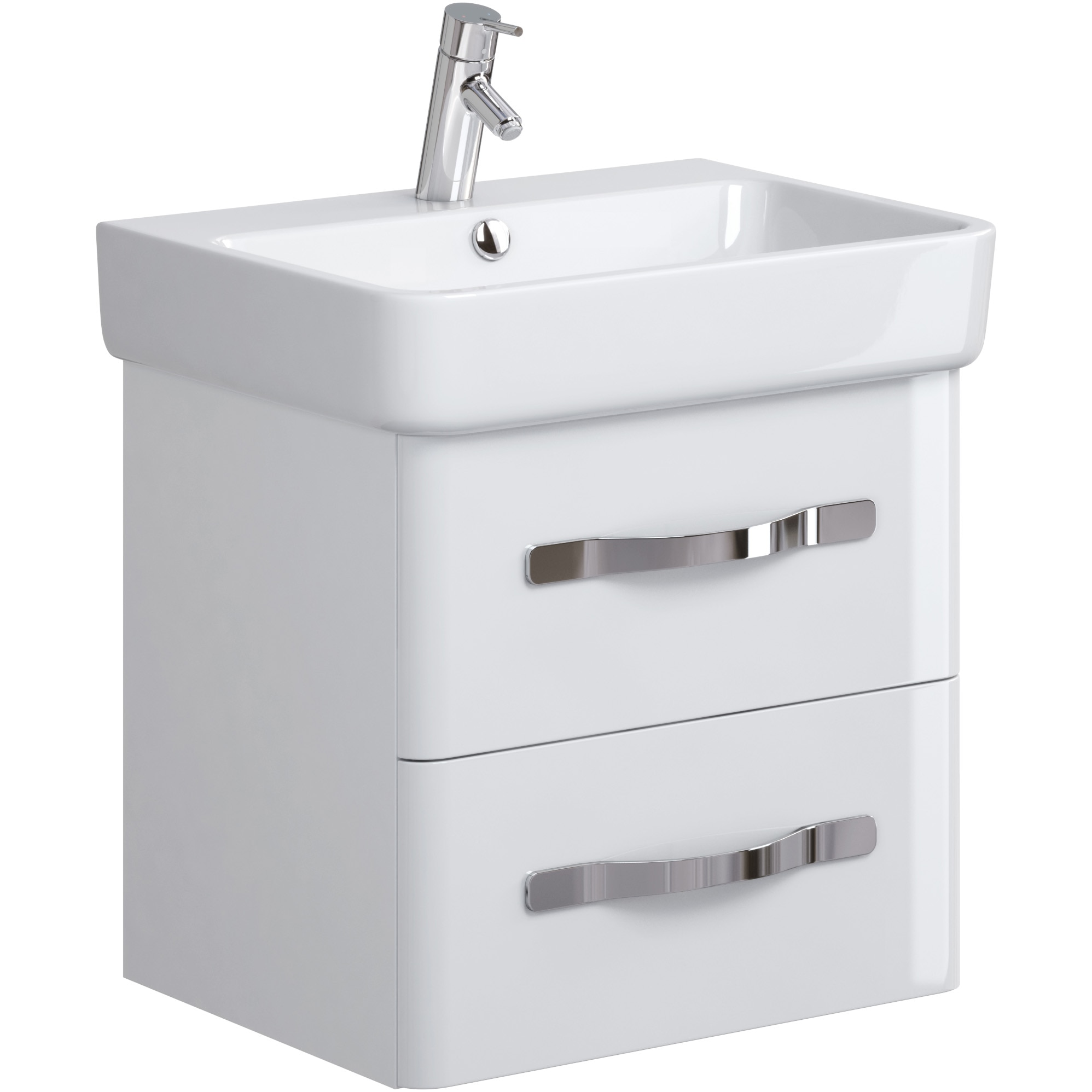 Fotografie Mobilier pentru lavoar Cersanit Urban Harmony OS580-001, 54x42x50 cm, alb, montat