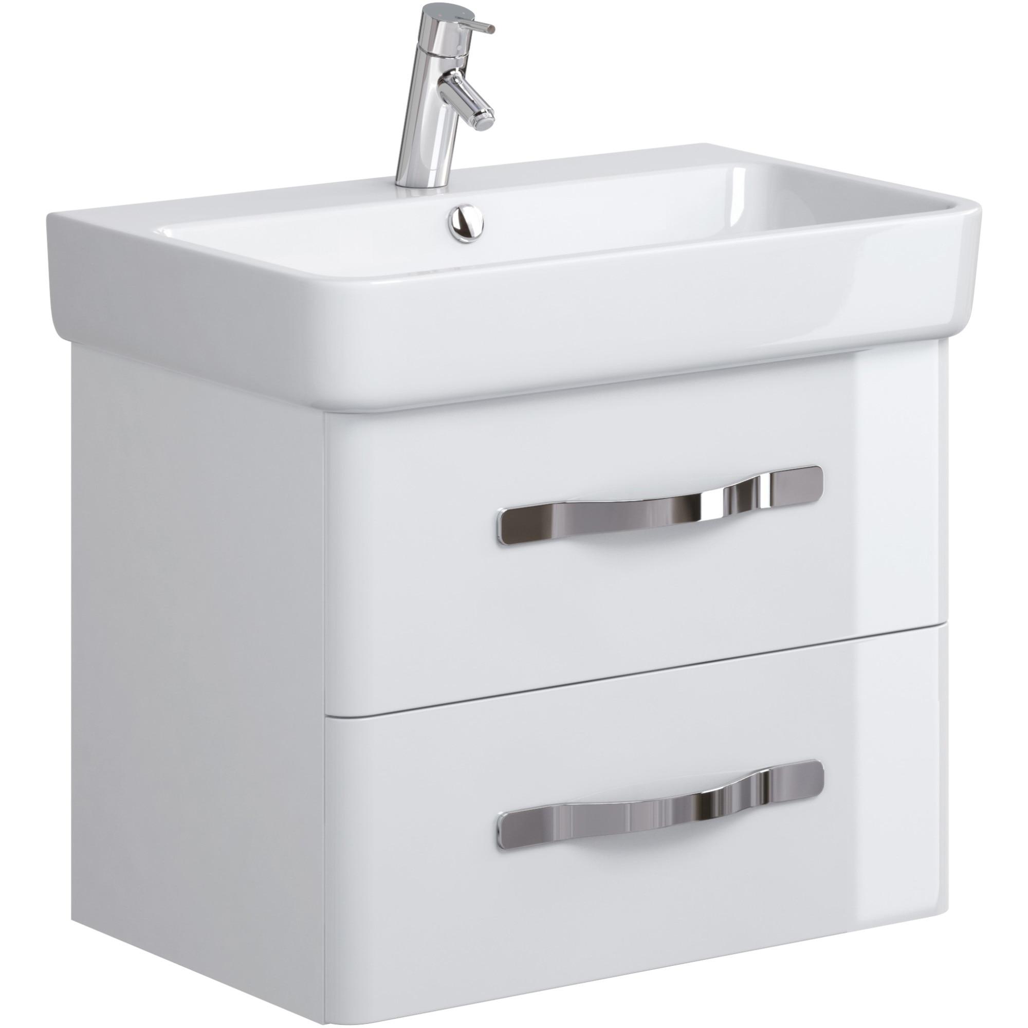 Fotografie Mobilier pentru lavoar Cersanit Urban Harmony OS580-002, 64.3x42x50 cm, alb, montat