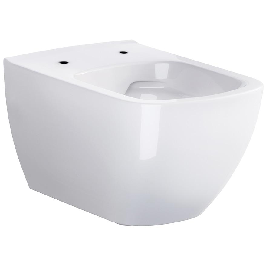 Fotografie Vas WC suspendat fara capac Cersanit Metropolitan Cleanon K38-014, 55.5x36 cm