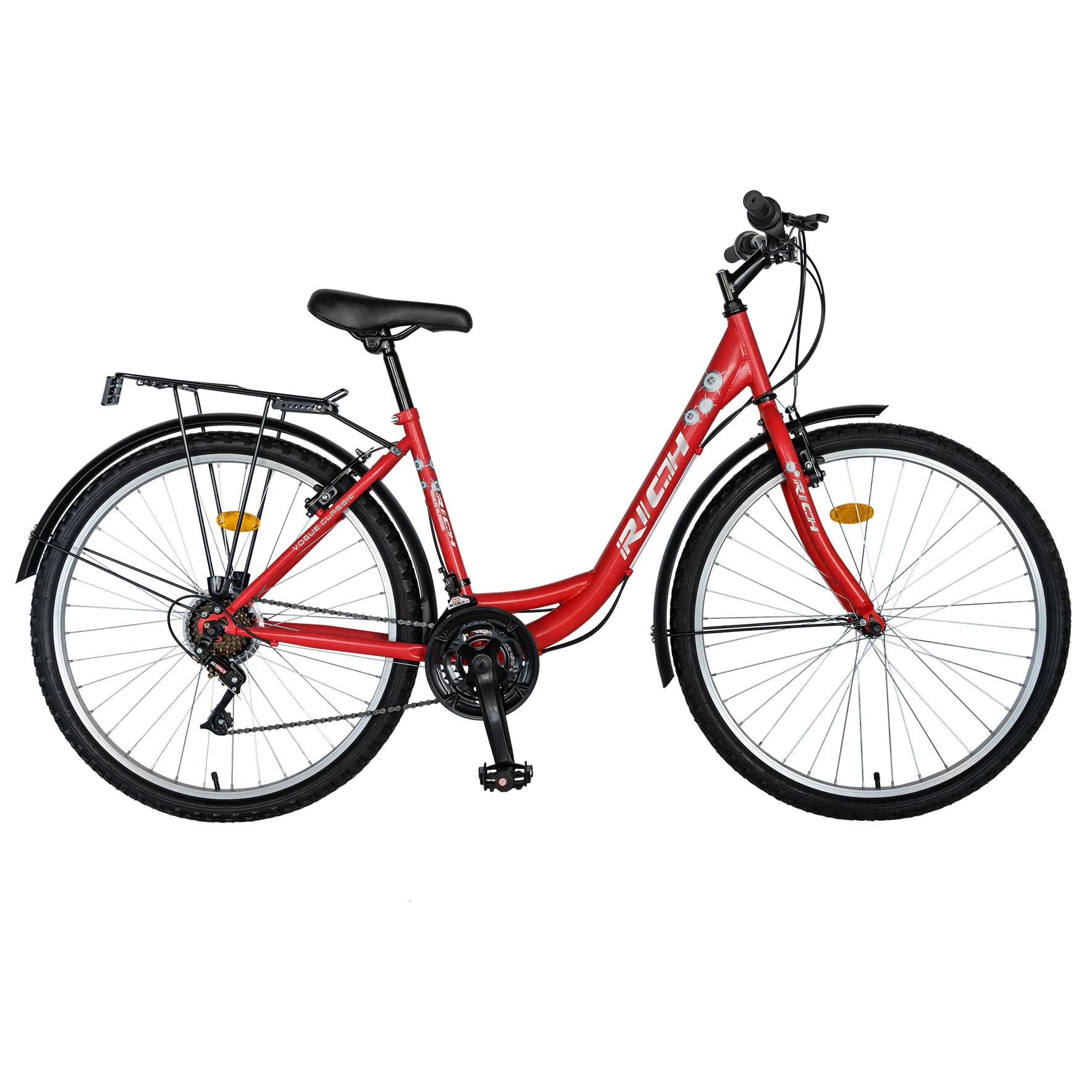 "Fotografie Bicicleta City 26"" Rich R2632A Rosu/Alb"