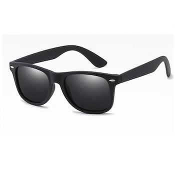 Ochelari de soare Wayfarer cu lentile polarizate si protectie UV400, BTG-1040, Negru