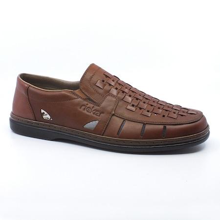 Pantofi barbati, piele, Rieker , Maro, 45