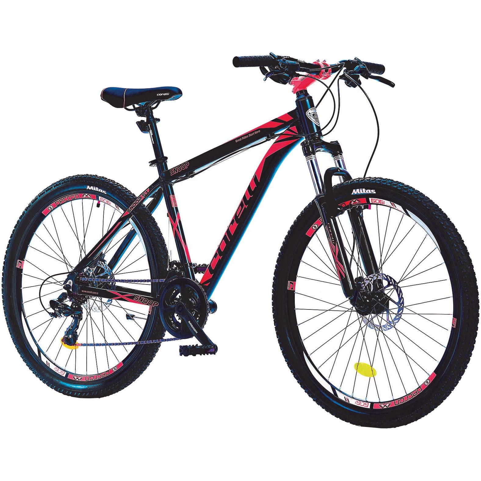 "Fotografie Bicicleta MTB 27.5"" SNOOP 5.1, frana disc Hidraulica, marime cadru L, negru-rosu"